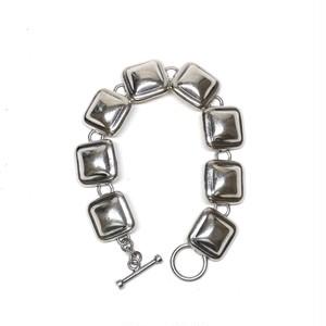 Vintage Mexican Square Link Toggle Bracelet