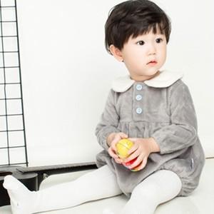 【オールインワン】折り襟可愛い肌に優しい新生児ロンパース25765032