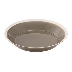 yumiko iihoshi porcelain(ユミコイイホシポーセリン)×木村硝子店 dishes 230 plate (fawn brown)  プレート 皿 23cm 日本製 255107