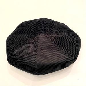 Large Crown Beret Black