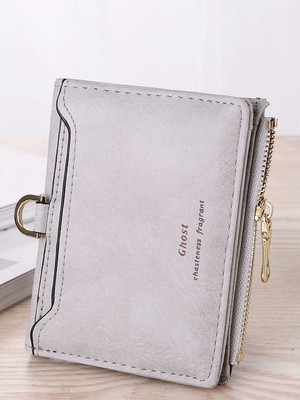 【accessories】Frosted retro casual fashion zipper wallet
