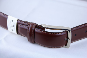 Giorgio Zoni Leather Belt -Brown ジョルジオ・ゾーニ レザーベルト