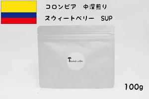 コロンビアコーヒー豆 ・中深煎り 100g(スウィートベリー SUP)