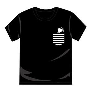 ビッチロゴポケットTシャツ(Black)