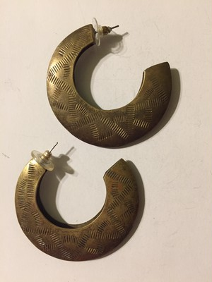 70s brass pierced earrings ( ヴィンテージ  真鍮 ピアス )