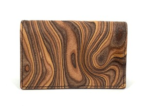 MAGNET Card Case Wood Brown