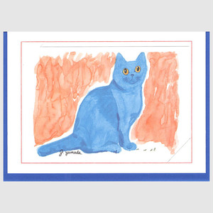 Cocoちゃんカード 青い猫