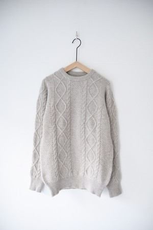 【WILLIAM LOCKIE】ARRAN P/O KNIT