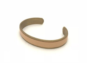 RE.ACT Buttero Leather Rail Bangle Natural
