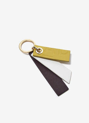 TRICOLOUR LEATHER KEYRING