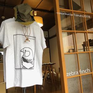 2018 -cotorikatta- Tシャツ/ キンカチョウ