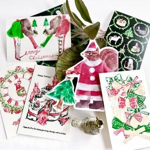 【残りわずか】クリスマスカード りすサンタ入りセット★