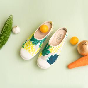 新作 取り寄せ中8月末発送予定 クロッグタイプ パイナップルクロッグシューズ hanamikoji 花見小路 シューズ 靴
