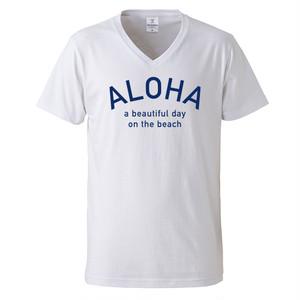 ALOHA Tee - White/Blue