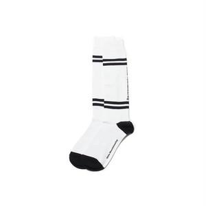 WM BOX LINED FOOTBALL SOCKS-WHITE
