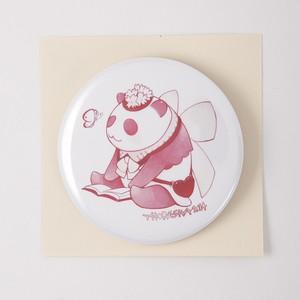 パンダ嬢 缶バッジ(ピンク)