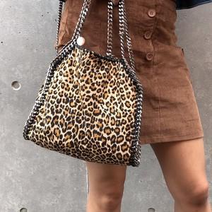 Leopard chain bag M-size