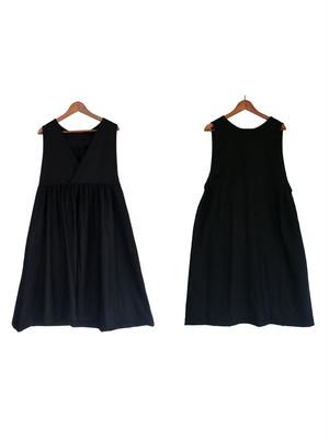 ina(イナ) Vネックジャンパースカート 2WAY Black