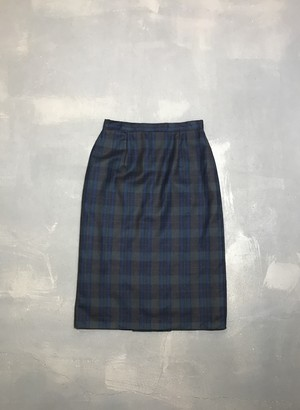 Multi Color Check Tight Skirt / Made in Germany [O-343]