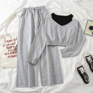 おしゃれ 着痩せ スポーツ風 シンプル 合わせやすい ベスト Tシャツ パンツ 3点セット セットアップ