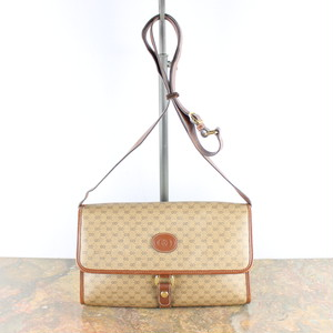OLD GUCCI GG PATTERNED SHOULDER BAG MADE IN ITALY/オールドグッチGG柄ショルダーバッグ