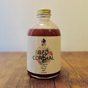 手作りハーブコーディアル RED CORDIAL【りんご 赤パプリカ ローズヒップ&ハイビスカス】250ml