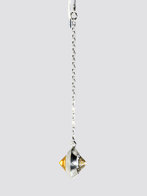 [ピアス] two color pierce / White & Yellow