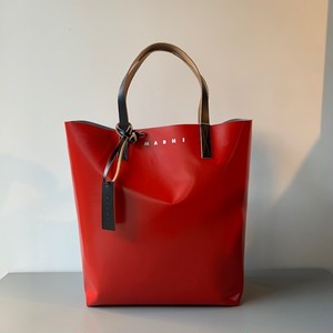 MARNI PVC SHOPPER BAG RED/GREY