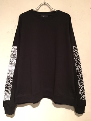 "WIDE SILHOUETTE CREW NECK SWEAT ""Ver.2""(BLACK)"