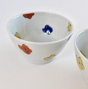 村田菜穂美 『三色お花もようめし碗』一個