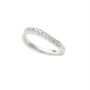 [約1ヶ月でお届け]レディース 2.0 mm幅 プラチナ 結婚指輪 OCTAVE∞(細身)Chaleur~ぬくもり~「つたえる想いと こたえる想い」