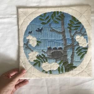 鳥の編み絵