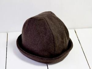 HELMA HAT | FLANNEL WOOL c/#BROWN【M58/L61】