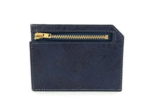 RE.ACT Paisley Indigo Slim Wallet
