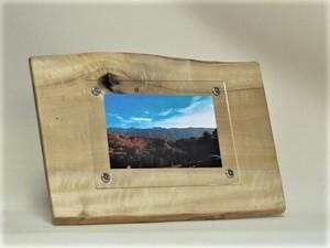 木製写真立て 壁掛け対応 No.4朴の天然木(KG-4)