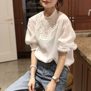 Lace Puff Sleeve Blouse T695
