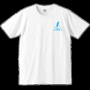 """T-shirt """"Aufheben Rock N Roll"""" 白×青"""
