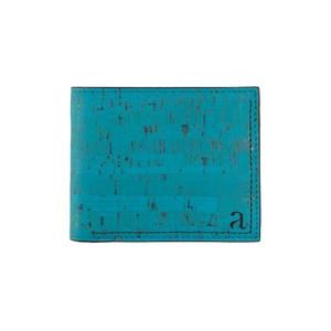 VEGAN MEN'S SLIMFOLD WALLET  OLIVE/ 二つ折り財布 ティール コルク製