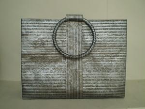 和紙のバッグ(銀丁子)L