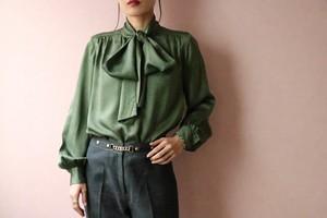 Yves Saint Laurent rive gauche green blouse
