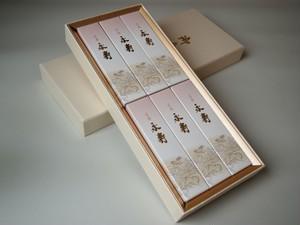 進物用 お線香 ◆ 銘香 永寿 芝山 6サック(箱)入り 紙箱