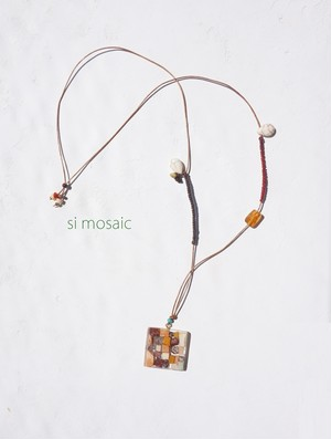 pendant of  Marble mosaic  / Marble jelly ( 大理石のペンダント/大理石ゼリー