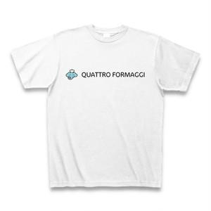 Aozora Pizza Tシャツ「QUATTRO FORMAGGI 白」