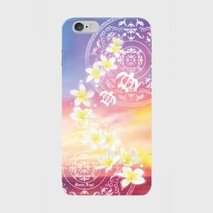 【iPhone6Plus/6sPlus】Plumeria Sunset Orange プルメリア・サンセット オレンジ ツヤありハード型スマホケース