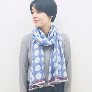 【 import 】 DOT PATTERN STOLE