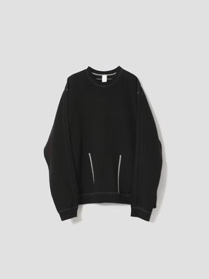 VEIN CO SWEAT VESSEL SWEAT SHIRTS Black VJ12-301