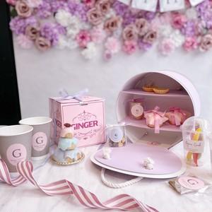 Ginger Garden tea party box (PURPLE)