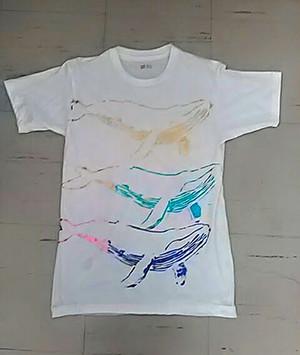 Tシャツ 箔プリント クジラ