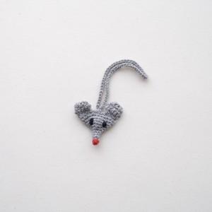 ねずみのストラップ(かぎ針編み)