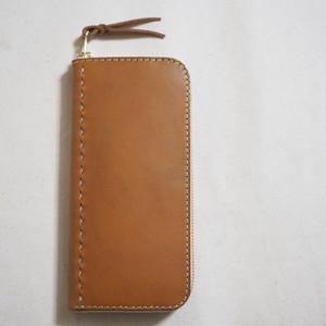 コの字ファスナーの定番長財布 / wallet キャメル